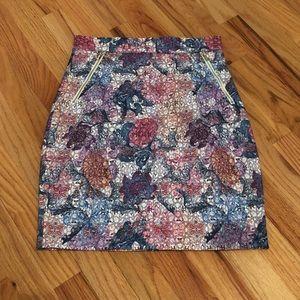 H&M multi Color Pencil Skirt Size 6